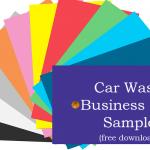 Car Wash Business Plan Sample Free Download