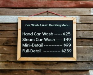 How to Create an Attention-grabbing Car Wash Menu